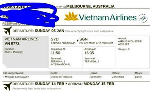 Cảnh sát Australia vào cuộc vụ du học sinh bị lừa mua vé máy bay
