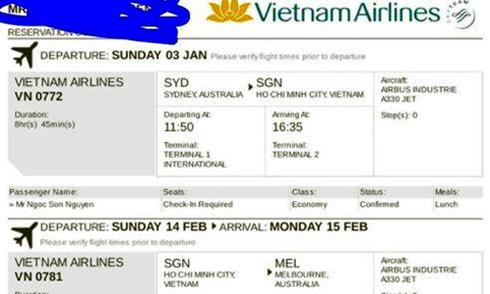 Đại sứ quán Việt Nam tại Australia hỗ trợ các du học sinh bị lừa mua vé giả