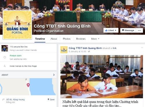 Quảng Bình thử nghiệm cổng thông tin trên mạng xã hội 1