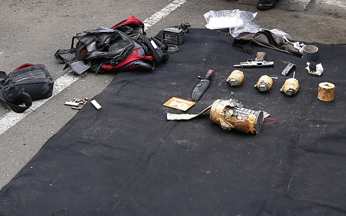 Weapons found in the terrorist