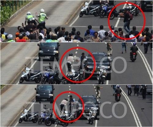 Hai tay súng bắn cảnh sát giữa đám đông ở Jakarta