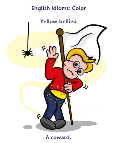 Yellow-bellied: a coward: kẻ nhát gan Ví dụ: Billy was called yellow-bellied after he was too scared to go on the roller coaster. (Billy bị mọi người gọi là kẻ nhát gan sau khi khiếp sợ vì đi tàu lượn siêu tốc)