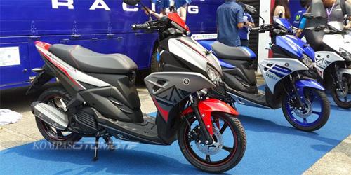 Yamaha Aerox 125LC giá 1.300 USD tại Indonesia. Ảnh: KompasOtomotif.