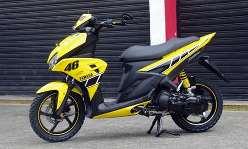 Yamaha Aerox 125LC - xe ga thể thao mới giá 1.300 USD