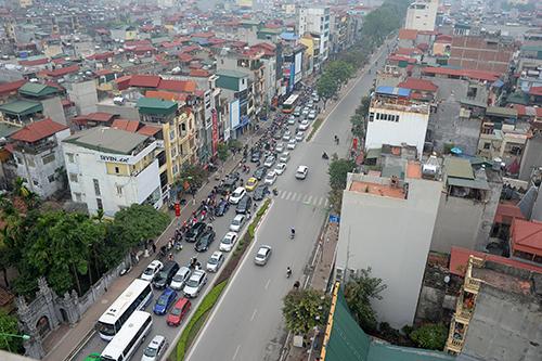 Mở ngã tư Kim Mã - Giang Văn Minh khiến đường ùn tắc kéo dài 1