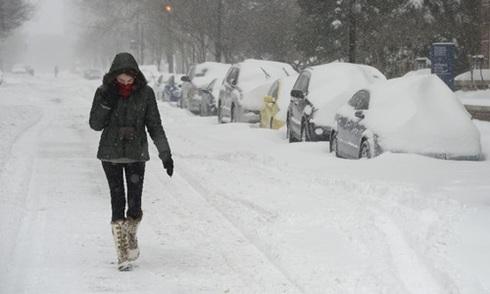 Nước Mỹ tê liệt vì bão tuyết