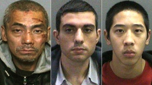 Pictured from left to right are the inmates who escaped from a Southern California prison: Bac Duong, Hossein Nayeri, and Jonathan Tieu. (Orange County Sheriff's Department via AP)