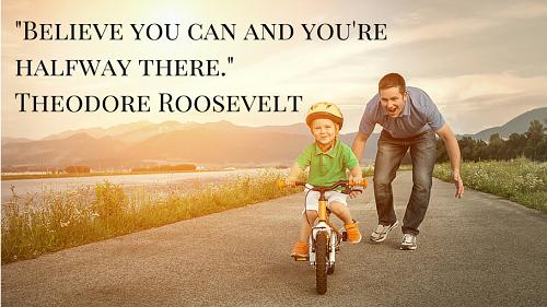 Believe you can and youre halfway there. Tin rằng mình làm được nghĩa là bạn đã đi được nửa đường.