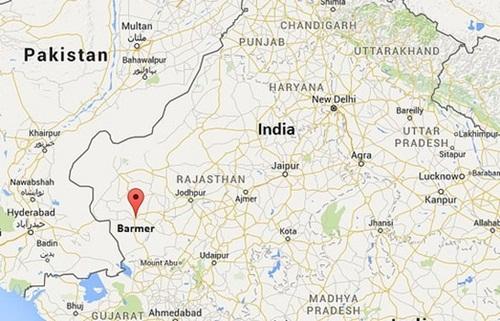 Vị trí huyện Barmer, Ấn Độ. Đồ họa: Googlemaps