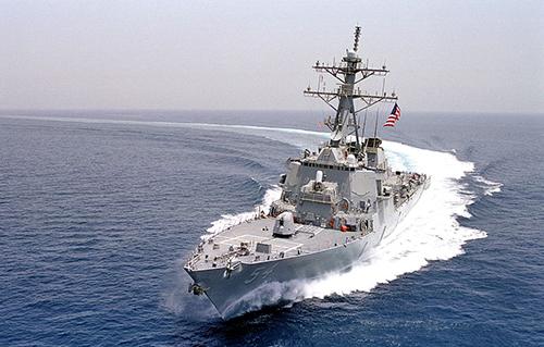 Khu trục hạmUSS Curtis Wilbur (DDG 54) của hải quân Mỹ. Ảnh: Wikipedia