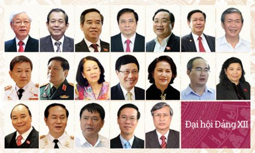 Bộ Chính trị phân công nhiệm vụ 19 thành viên 1