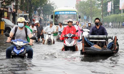 Sài Gòn có nguy cơ ngập ngày Tết