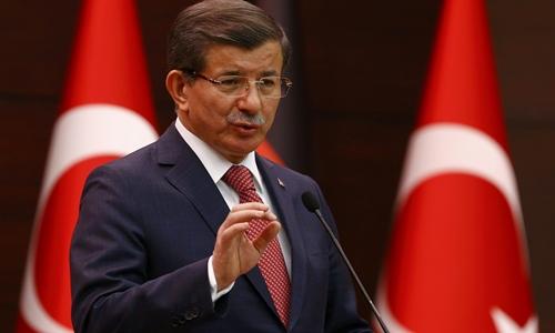 Thủ tướng Thổ Nhĩ Kỳ Ahmet Davutoglu. Ảnh: Reuters.