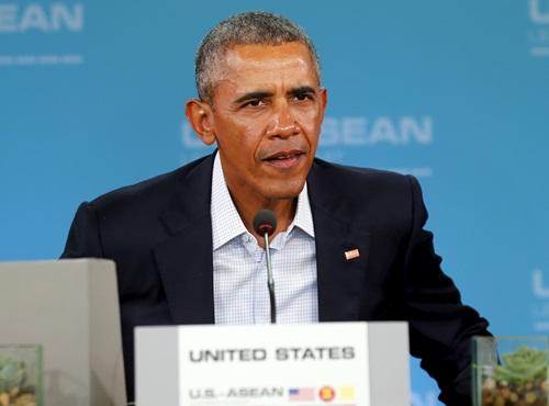 Tổng thống Mỹ phát biểu khai mạc hội nghị cấp cao với các lãnh đạo ASEAN ở Sunnylands, California. Ảnh: REuters
