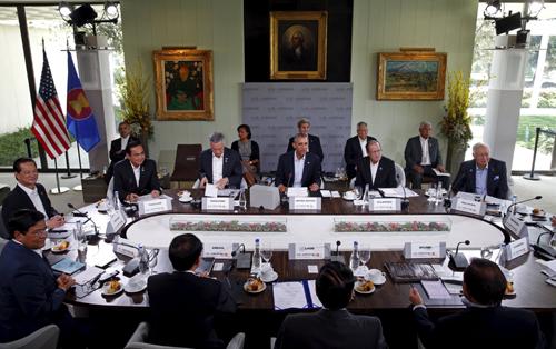 Lãnh đạo các nước tạiHội nghị Cấp cao đặc biệt ASEAN - Mỹ ở Sunnylands, California, Mỹ. Ảnh: Reuters