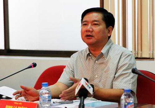 Bí thư Thành ủy TP HCM Đinh La Thăng. Ảnh: A.Q