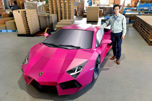 Siêu xe Lamborghini làm từ bìa các-tông 1