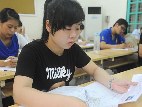 Thí sinh mùa thi THPT quốc gia 2015. Ảnh: Giang Huy.