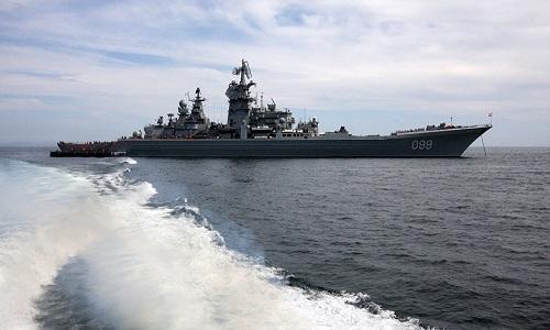 Uy lực tuần dương hạm Nga trang bị tên lửa siêu vượt âm 1