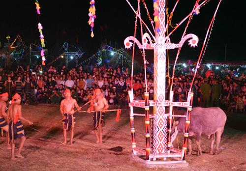Đăk Lăk quây bạt để đâm trâu tại lễ hội 1