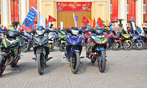 Hơn 250 chiếc Exciter hội tụ tại Hà Nam 4