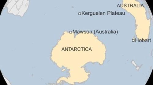 Vị trí căn cứ Mawson của Australia tại Nam Cực. Đồ họa: BBC