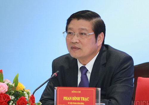 Ông Phan Đình Trạc nhậm chức Trưởng ban Nội chính Trung ương 1