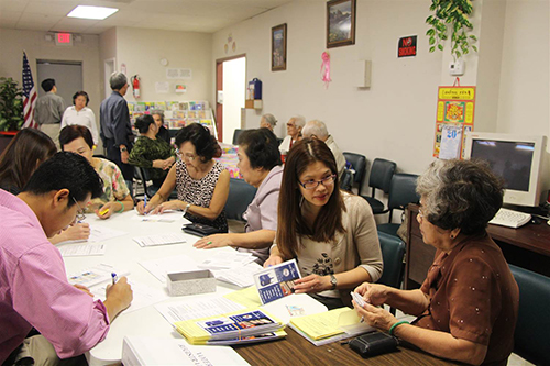 [Caption]BPSOS, a multi-service center for the Vietnamese community in Houston, has held voter registration drives since December. Executive director Jannette Diep said she's seen an unprecedented interest in the primary this Super Tuesday, Courtesy of BPOS-Houston