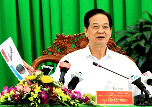 """Thủ tướng Nguyễn Tấn Dũng: """"Cả hệ thống chính trị phải vào cuộc chống hạn, mặn"""" 1"""
