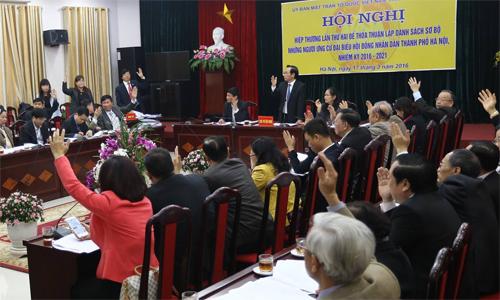 Toàn bộ 48 người tự ứng cử Quốc hội ở Hà Nội đã được thông qua 1