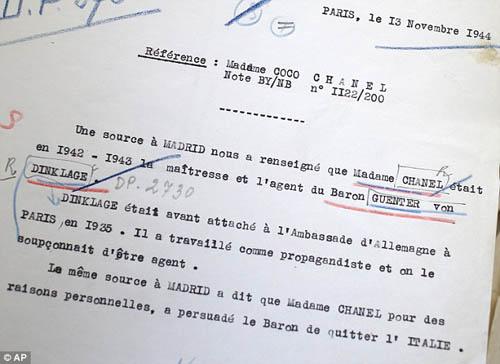 Nhà tạo mẫu Chanel bị nghi là mật thám phát xít Đức 2