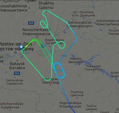 Hành trình của chuyến bay số hiệu FZ891 thuộc hãng FLyDubai. Đồ hoạ: Flightradar
