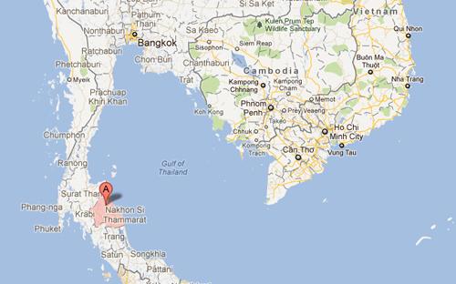 h phía nam Nakhon Si Thammarat