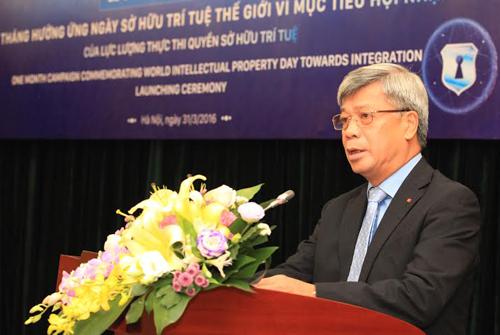 Thứ trưởng Trần Việt Thanh nhấn mạnh vai trò của việc nâng cao nhânnâng cao nhận thức về quyền sở hữu trí tuệ đối với phát triển của xã hội,