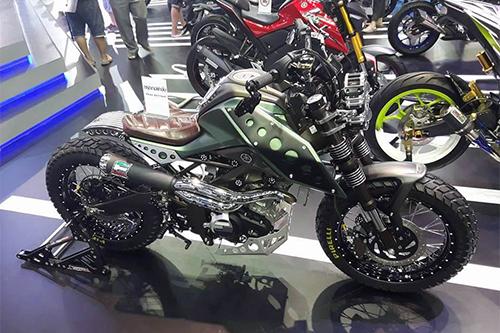 M Slaz X Speed 1 6282 1459567468 Bản độ phát triển từ M Slaz 125 phân khối   Xế độ Yamaha Scrambler Concept