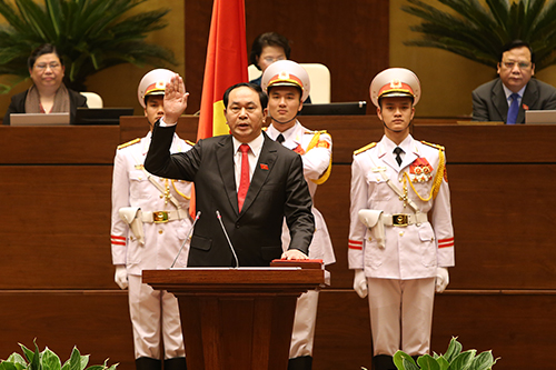 Đại tướng Trần Đại Quang tuyên thệ nhậm chức Chủ tịch nước