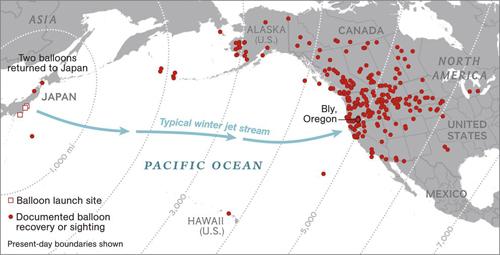 Chiến dịch oanh tạc nước Mỹ bằng bom khí cầu của phát xít Nhật 2