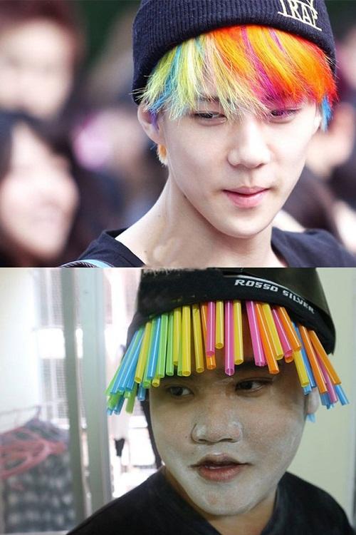 Muốn có mái tóc bảy màu không khó.
