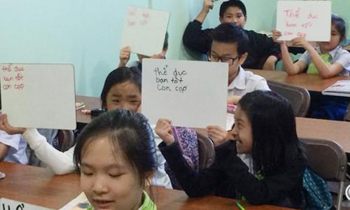 Lớp tiếng Việt tạigiáo đường Trái tim Vô nhiễm Đức Mẹ ở thành phố Lincoln, bangNebraska. Ảnh:NET News