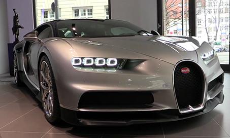Siêu xe Bugatti Chiron màu lạ