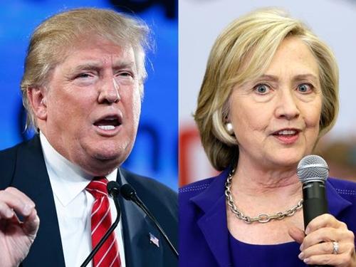 Tỷ phú Donald Trump (trái) và cựu ngoại trưởng Mỹ Hillary Clinton. Ảnh: AP.