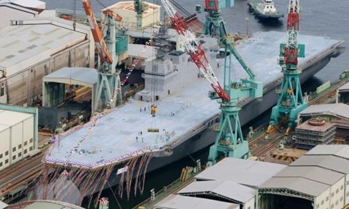 Khu trục hạm mang hình hài tàu sân bay của Nhật 2