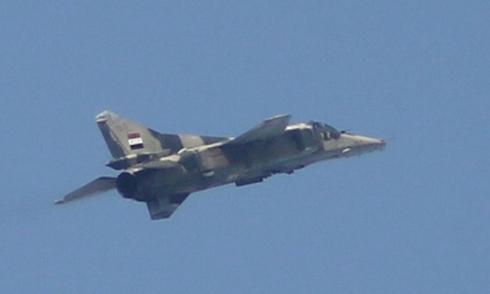 Máy bay chiến đấu rơi ở Syria
