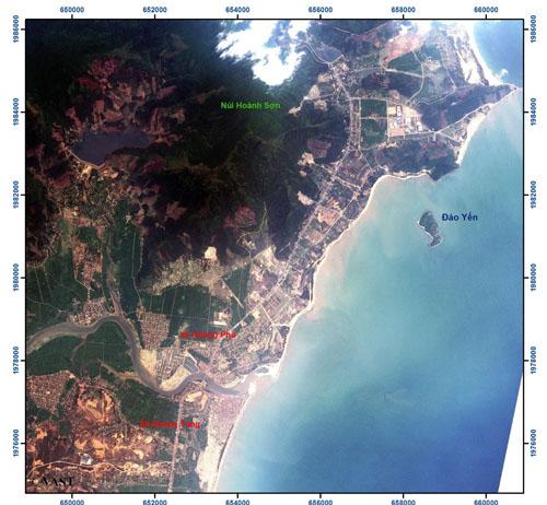 Ảnh VNREDSat-1 khu vực lân cận Vũng Áng