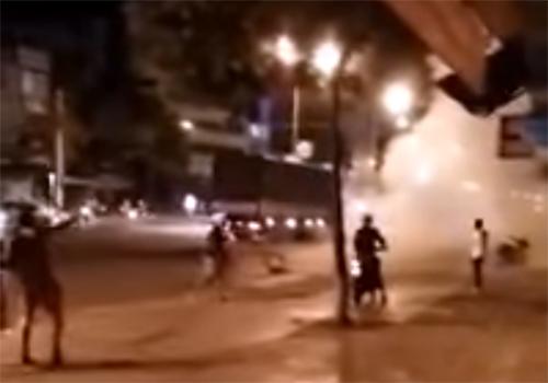 Nổ mìn tự sát giữa đường, nam thanh niên tử vong