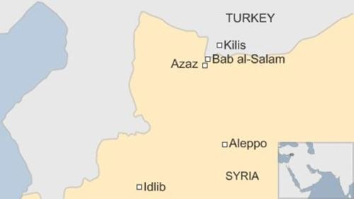 Vị trí thị trấn Kilis, Thổ Nhĩ Kỳ. Đồ họa: BBC.