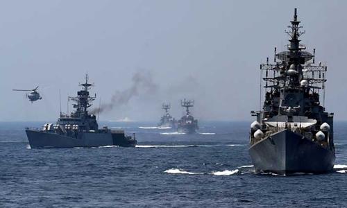 Hải quân Ấn Độ trong một cuộc tập trận. Ảnh: PTI
