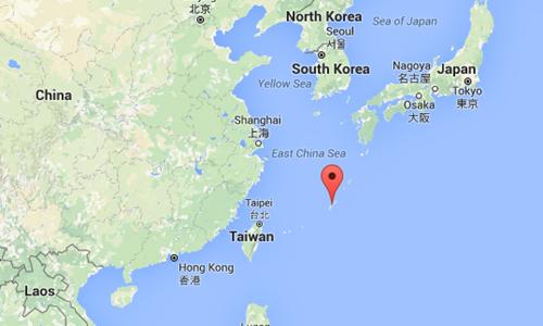Đảo Okinawa của Nhật Bản, nơi sẽ diễn ra cuộc tập trận Mallabar. Ảnh: Google Maps