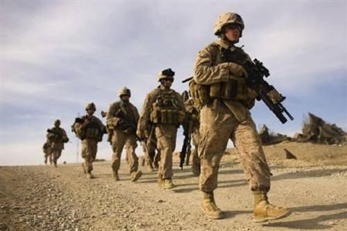 Lính thủy đánh bộ Mỹ. Ảnh: reuters.