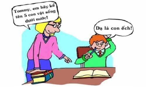 Cô giáo đứng hình trước đáp án của học trò